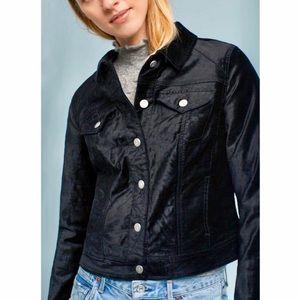 Anthropologie Pilcro Premium Denim Velvet Jacket